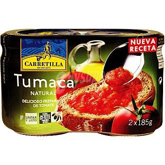 Carretilla Tumaca natural Pack 2x185 g
