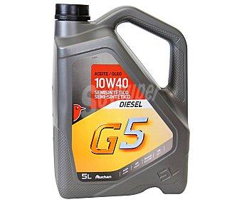 Auchan Aceite semi sintético para vehículos diésel, G5 5 Litros