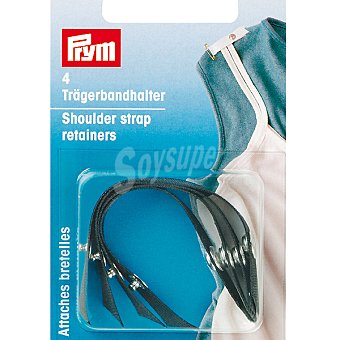 PRYM Estuche 4 cintas sujeta lenceria de seda en color negro