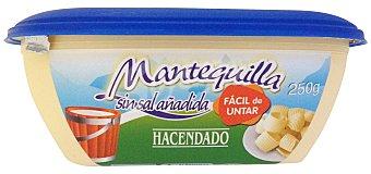 Hacendado Mantequilla sin sal facil untar Tarrina 250 g