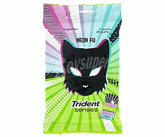 Trident Chicle Neon Fu Pack 2x27 g