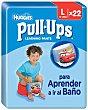 Pañal de aprendizaje para niño talla 6 de 16 a 23 Kilogramos 22 unidades Pull-Ups Huggies