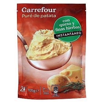 Carrefour Puré patatas queso y finas hierbas 105 g