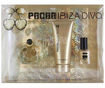 PACHÁ Ibiza Estuche Queen Diva: Eau de Toilette 80ml + Loción hidratante cuerpo 100ml + Laca uñas 12ml 1 Unidad