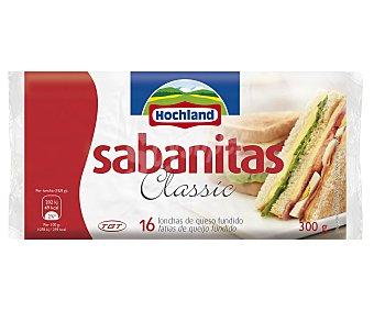 HOCHLAND Sabanitas Lonchas de Queso sabanitas 16 Unidades 300 Gramos