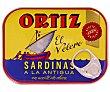 Sardinas en aceite de oliva a la antigua 100 g Ortiz