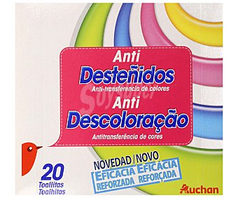Auchan Toallitas atrapa color, anti desteñidos 20 uds