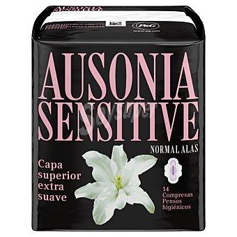 Ausonia Compresa sensitive normal Paquete 14 unid