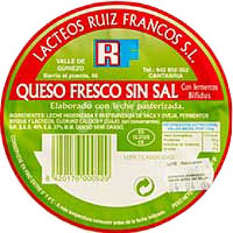 Ruiz Franco Queso fresco Bio sin sal Tarrina 260 g