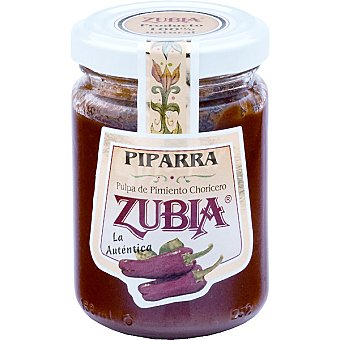 ZUBIA Piparra Pulpa de pimiento choricero Frasco 125 g