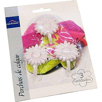 Casactual Percha de colgar en forma de flor set 3 unidades 3 unidades