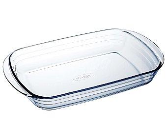 ARCUISINE Fuente rectangular de 33x20 centímetros y fabricada en cristal con 2 pequeñas asas para un fácil agarre 1 Unidad