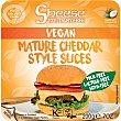 Sheese queso vegetal en lonchas estilo cheddar sin gluten y 100% sin lactosa con aceite de coco Envase 200 g SHEESE