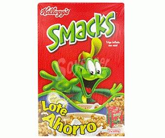 SMACKS de KELLOGG`S Cereales con Miel smacks de kellogg`s 2 Unidades de 500 Gramos (4,50€/KG ) 2x500g