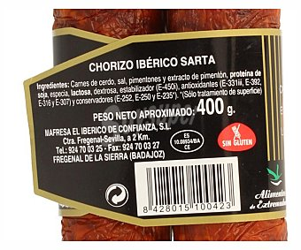 Mafresa Chorizo sarta casero ibérico 400 gr