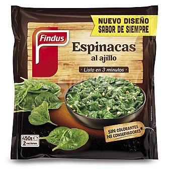 Findus Espinacas congeladas al ajillo 450 g