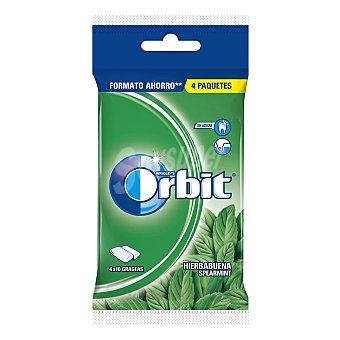Orbit Chicles sabor a hierbabuena Pack 4 paquetes x 10 grageas