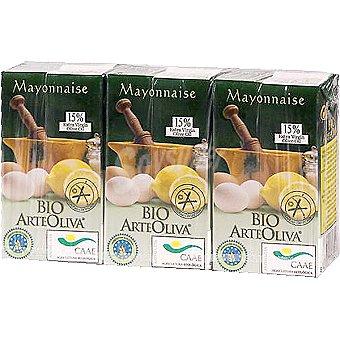 Arteoliva Mayonesa con aceite de oliva ecológica Pack 3 envase 125 ml
