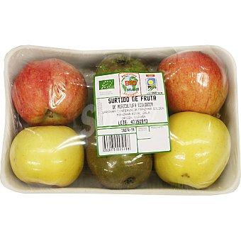 Surtido de fruta variada ecológica peso aproximado Bandeja 1 kg