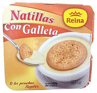 Postres Reina Natilla con galleta 8 unidades de 125 g (1 Kg)