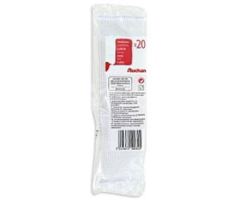 Auchan Cuchillos transparentes 20 Unidades