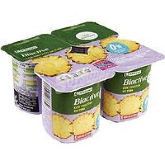 Eroski Bioactive 0% con piña Pack 4x125 g
