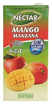 Hacendado Nectar mango manzana sin azucar Brick 1 l