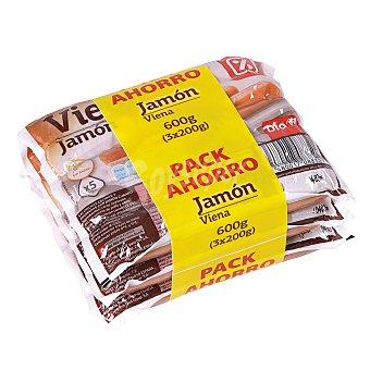 DIA Salchichas Viena jamón envase multipack 3x200 g
