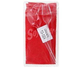 Auchan Pack cubiertos: cuchara/tenedor/cuchillo 1 Unidad