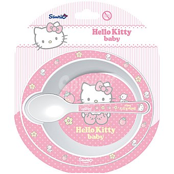 STOR Set de cuenco y cuchara de Hello Kitty para microondas