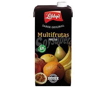 Libby's Néctar sin azucar añadido multifrutas (manzana, naranja, maracuyá, limón, pomelo, mandarina, pera y plátano) Brick de 1 litro