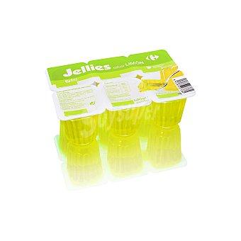 Carrefour Gelatina sabor limón Jellies sin gluten Pack de 6 unidades de 100 g
