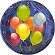 Platos Balloons 18 cm festa Paquete 10 unidades Perla