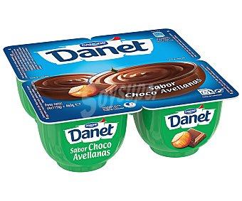 Danet Danone Natillas sabor chocolate y avellanas pack 4 unidades 115 g