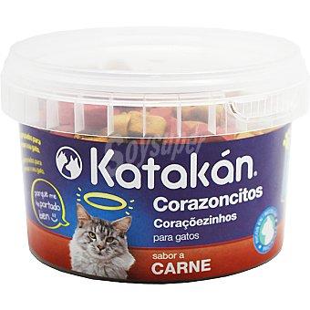 KATAKÁN Corazoncitos para gatos sabor carne envase 125 g Envase 125 g