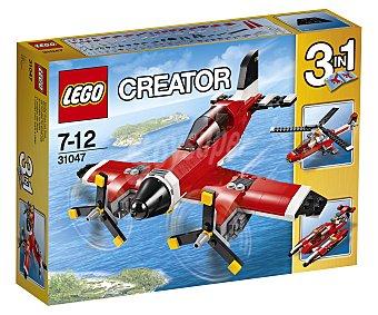 LEGO Juego de construcciones 3 en 1 con 230 piezas Avión con hélices convertible en hidrodeslizador y helicóptero, ref. 31047 Creator 1 unidad