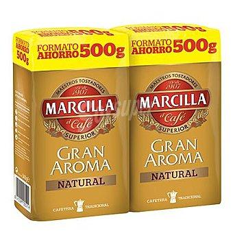Marcilla Café molido natural 'gran Aroma' Pack 2x500 g