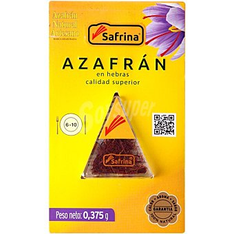 Azafran natural artesano azafrán en hebras blister 0,375 g