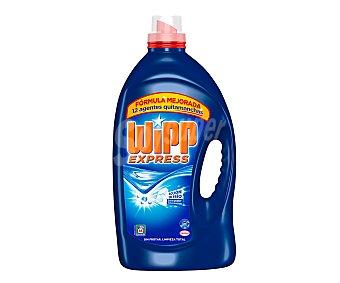 WIPP EXPRESS detergente máquina líquido gel azul quitamanchas activo botella 66 dosis