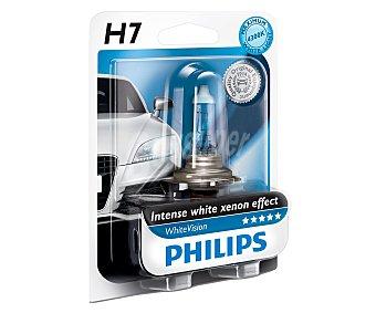 Philips Bombilla halógena para automovil, modelo H7, luz blanca y portencia: 55W 1 unidad