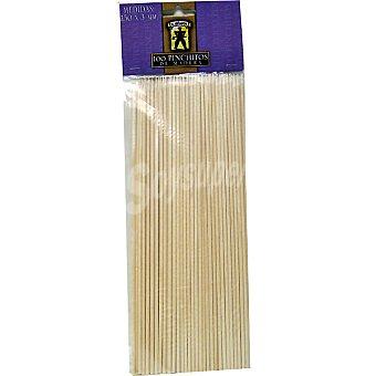 LEÑADOR palillos para pinchos de madera paquete 100 unidades