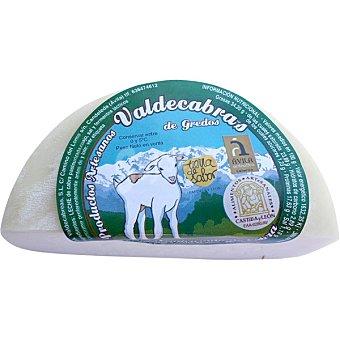 VALDECABRAS Queso de cabra semicurado peso aproximado 1/2 pieza 350 g