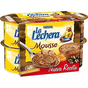 La Lechera Nestlé Mousse de café con caramelo Pack 4 unidades 60 g