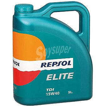 REPSOL Elite Aceite de motor TDI 15W40 bidón 5 l