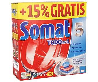 Somat Detergente lavavajillas todo en 1 39 lavados