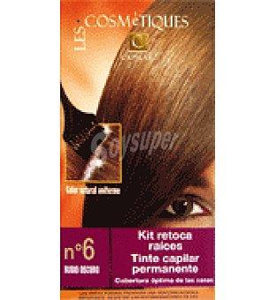 Les Cosmetiques Kit retoca raíces tinte capilar permanente Rubio oscuro nº 6 1 unidad