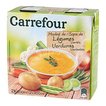 Carrefour Sopa de verduras variadas Pack 2x300 ml