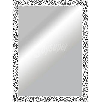 Hergon Espejo plano 50 x 70 en color blanco y plata