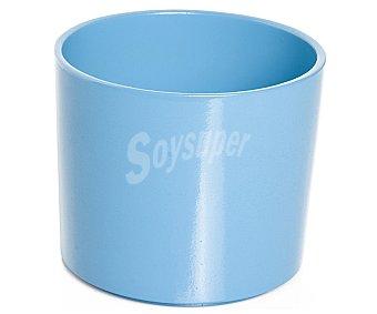 VAN Maceta cerámica modelo Viber Meem, lisa y de color tuquesa 1 Unidad