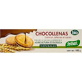 SANTIVERI NATURALIA Chocollenas Galletas rellenas al cacao bio Envase 185 g